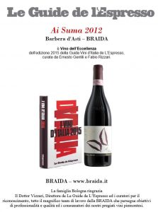 l'espresso guida vini d italia 2015 braida barbera ai suma 2012 eccellenza