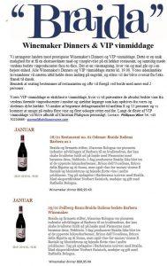 DK Denmark braida wine tasting dinner JAN 28 29 2015