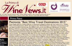 wine news REPORT 10 Best Wine Travel Destinations 2015 piemonte braida winery