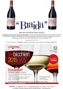 2015 tre bicchieri gambero prowein top weine vino braida bricco