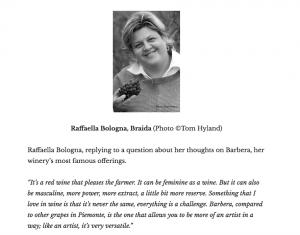 The Wines and Foods of Piemonte Raffaella Bologna per Braida