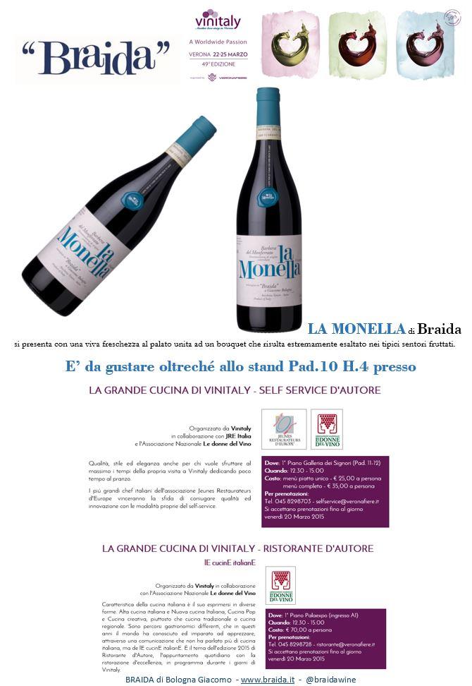 iniziative vinitaly 2015 braida vino ristorante donne del vino bologna raffaella LaMonella